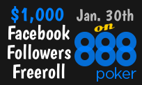 Facebook Followers Freeroll on 888poker