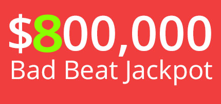 Bad beat Jackpot 800K BetOnline