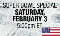 Super Bowl Special on Bovada, 250K GTD
