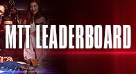 MTT Leaderboard on BetOnline